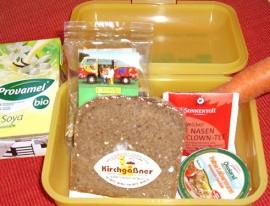 Bio-Brotboxen für die 1. Klassen